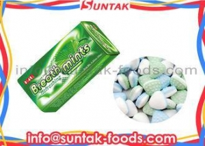 China Strongest Healthy Breath Mints For Dental 2 Layers Color , Mint Green Candy on sale