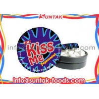 No Sugar Round White Mint Candy , Peppermint Flavored Candy With Display Box