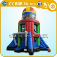 China Rocket space Inflatable game for adult on sale