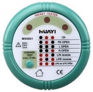 China Electronics tester 6861 socket tester MS6860 new apperance with international safe on sale