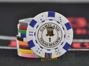 China 11.5g ABS Custom Printed Diced Poker Chip on sale