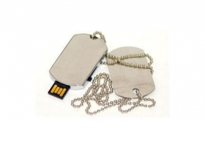 China USB Drives Custom Dog Tag Style on sale