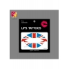 China Fashionable Flag Lips Tattoo Sticker JYC023 for sale