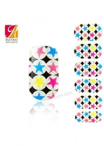 China vinyl sticker nail sticker stickers With Star PCB009 wholesale