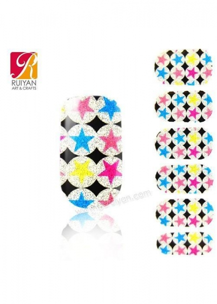 China vinyl sticker nail sticker stickers With Star PCB009