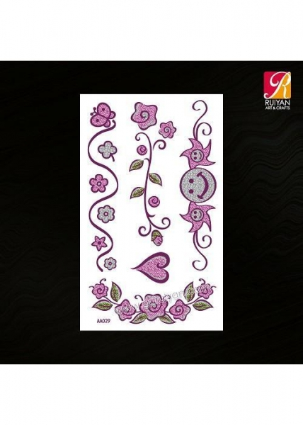 China Waterproof Glitter Temporary Tattoo AA029