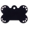 China Large Black Anodized Bone Tag w/ Clear Stones for sale