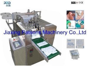 China Alcohol pad machine Fully auto alcohol prep pad manufacturing machine PPD-2R280 on sale