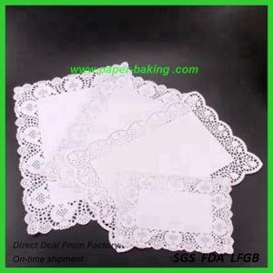 China Oval Silver Lace Paper Doilies for Sale on sale