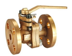 China Bronze/Brass Ball Valve, Flanged type on sale