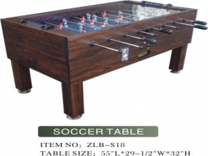 China Glass Top Soccer Table on sale