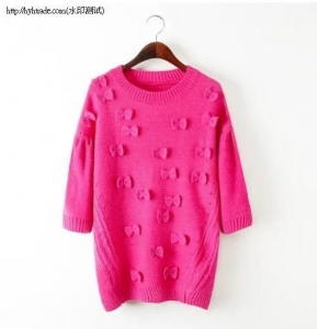China K7-2( B1-4-1G) )Butterfly casual long-sleeved sweater on sale