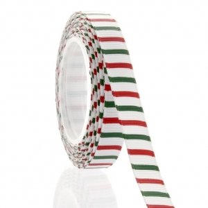 China Christmas Stripe Printed Grosgrain Ribbon NO.: CRB-002 on sale