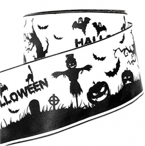 China Black and White Halloween Printed Stain Ribbon NO.: PH-009 on sale