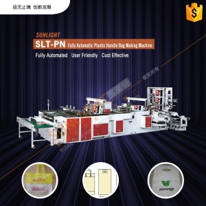 China SLT-PN Fully Automatic Plastic Handle Bag Making Machine (One Machine Four Functions) on sale