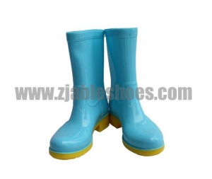China Fashion Boots Product: Bule color woman Rain Boots on sale