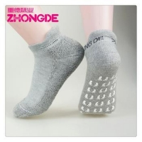 Indoor Lady Cotton Anti Slip Pilates Yoga Toes Socks with Grips