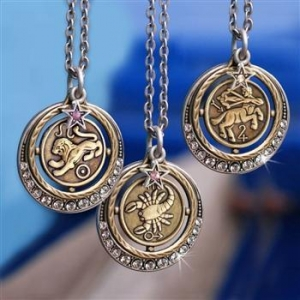 China Sweet Romance Zodiac Pendant Necklace N1244 on sale