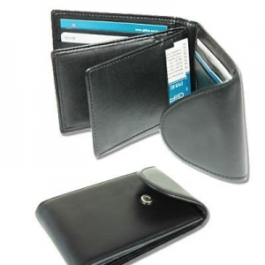 China Bi-fold Genuine Leather Card Case(601) on sale