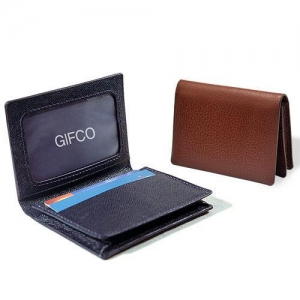 China Embossed cowhide leather pocket ID card holder(655) on sale