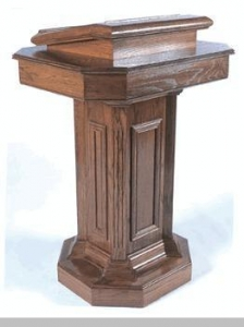 China PEDESTAL PULPIT- WOOD STAIN on sale