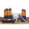 China Concrete batching plant HLS120 belt type concrete batching plant for sale