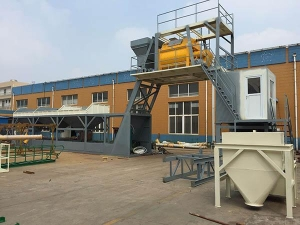 Quality MHZS75 Free foundation concrete batching plant for sale