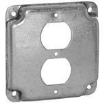 China Hubbell-Raco 902C 4 Square Exposed Work Cover, (1) Duplex Receptacle on sale