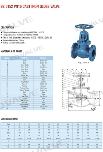 China BS 5152 PN16 CAST IRON GLOBE VALVE on sale