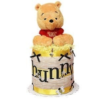 Diaper Cake Ideas Winnie the Pooh Hunny Pot Diaper Cake