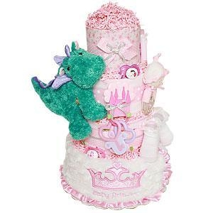 China Diaper Cake Ideas Baby Princess and Her Little Dragon Diaper Cake on sale