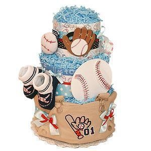 China Girl Diaper Cakes Baseball Diaper Cake on sale