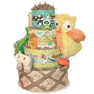 China Grey Owl Diaper Cake on sale