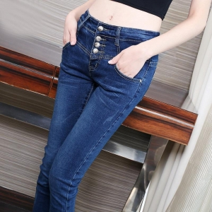 China Women Ladies High Waist Skinny Slim Stretchy Denim Jeans Pants on sale