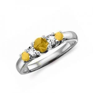 China Gemstones Jewelry Gemstone jewelry 18k gold citrine ring on sale