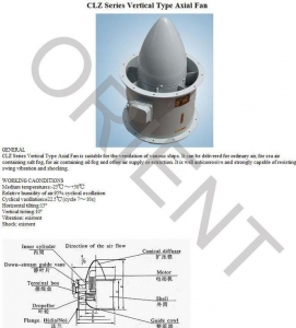 China CLZ series Vertical Type Axial Fan on sale