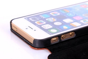 China for iphone5 hard wooden case with leather on sale