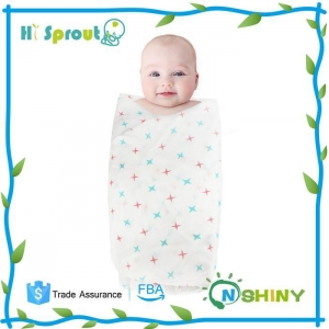 China New Fashion 100% Cotton Muslin Swaddle Blanket on sale