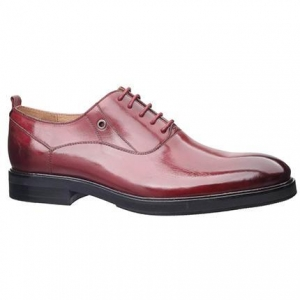 China MEN'S SHOES leather dress shoes 16M0418-2 RED on sale