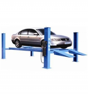 China Portable Electric Hydraulic Four Post Wire Rope Drive 4 Post Car Hoist Lifts on sale