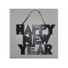"China GLITTER HAPPY NEW YEAR"" SIGN WITH RIBBON HANGER for sale"
