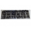 "China 14""X4' METALLIC FRINGE BANNER for sale"