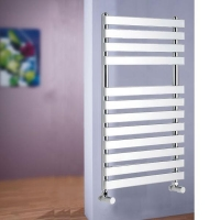 China Chrome Designer Flat Tube Towel Radiator on sale