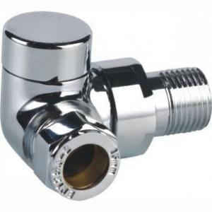 China Brass lockshield Corner Radiator Valve on sale