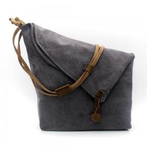 China Messenger Bag Casual Canvas Crossbody Messenger Shoulder Bag for Men and Women Grey on sale
