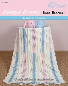 China CROCHET PATTERNS SNUGGLY STRIPES Baby Blanket on sale