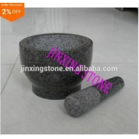 China Granite Mortar&Pestle/Spice Herb Crusher Grinder Set/Stone Pilon&Mortier on sale