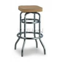 "Furniture Backless Counter Height Metal Padded Swivel Bar Stools Without Back 29"" AC1520"