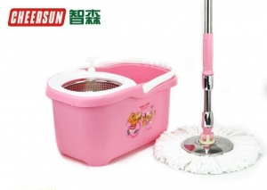 China Pink Hand Press Spin Mop on sale