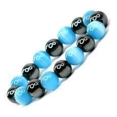 China Catseye Beaded Hematite Magnetic Bracelet on sale